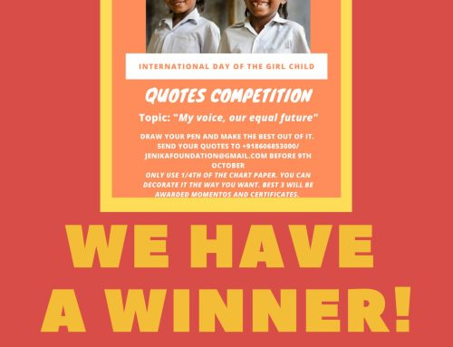 Prize Winners in Quotes Competition – International Day of Girl Child