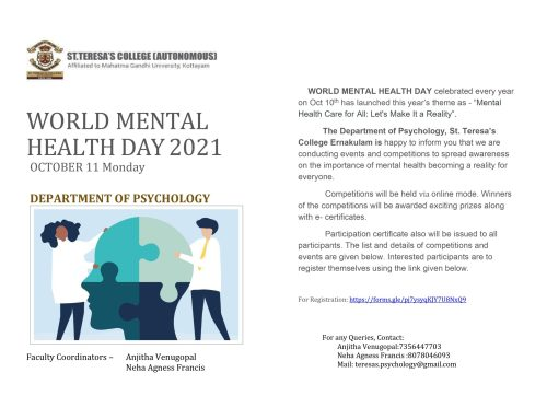 World Mental Health Day – Online Competitions