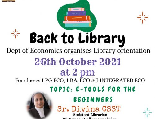 Library Orientation for PG & UG-Economics-26th October 2021